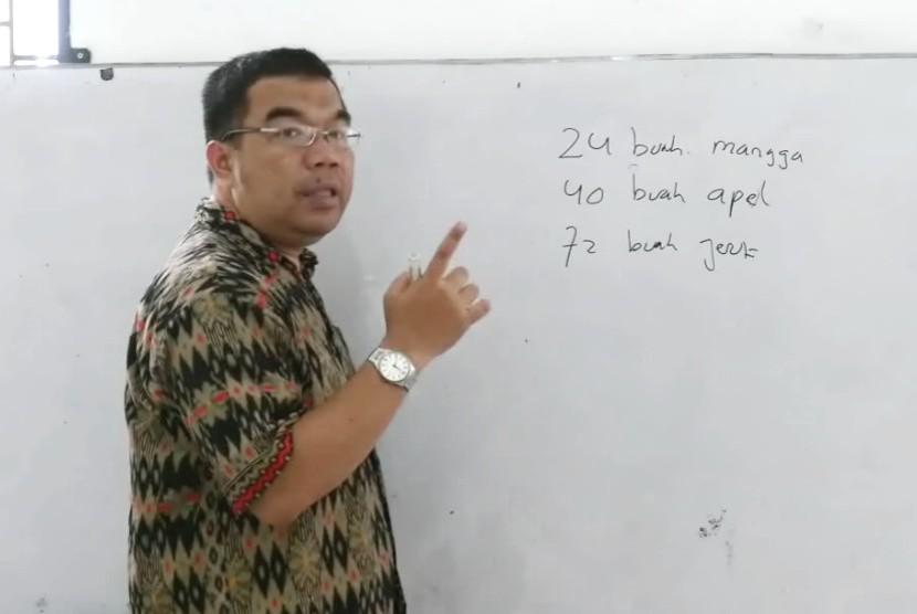 Pelatih Nasional Olimpiade Matematika Ridwan Hasan Saputra