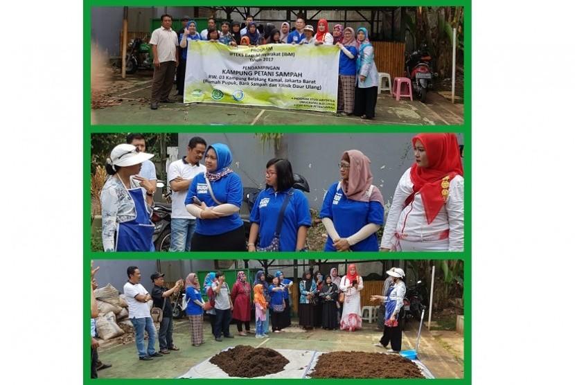 Pelatihan pembuatan pupuk kompos oleh