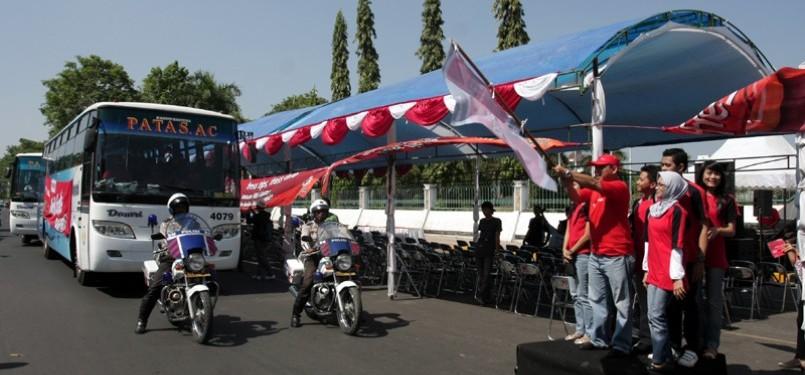Pelepasan Mudik Bareng di Makassar