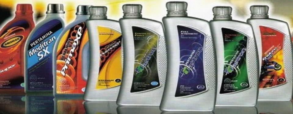 Pelumas kendaraan produk Pertamina