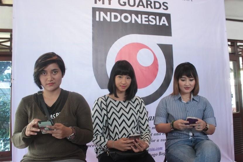 Peluncuran aplikasi My Guard Indonesia di Jakarta, Rabu (3/5).