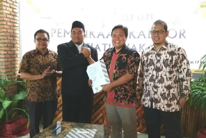 Peluncuran iWakaf di Condet Festival, Jakarta, Jumat (17/3)