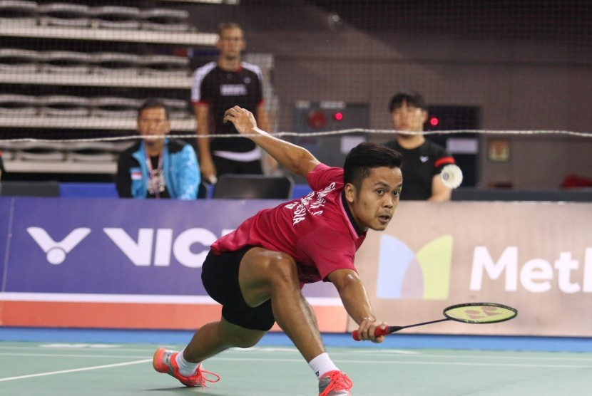 Pemain tunggal putra Indonesia, Anthony Sinisuka Ginting.