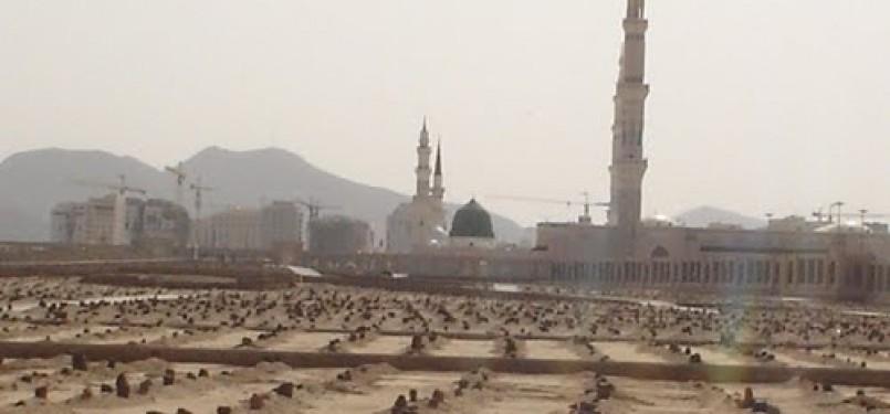 Pemakaman di dekat Masjid Nabawi, Madinah