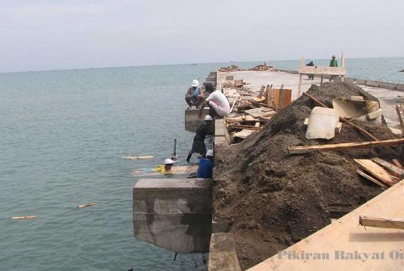Pembangunan dermaga pelabuha Patimban