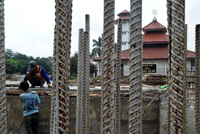 Pembangunan masjid.  (ilusrasi)