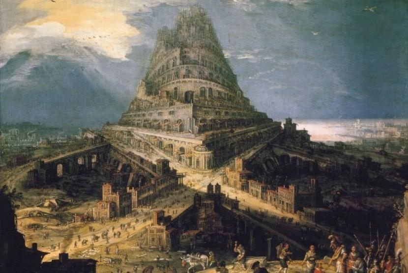 Pembangunan Menara Babel juga ditengarai menggunakan aspal.