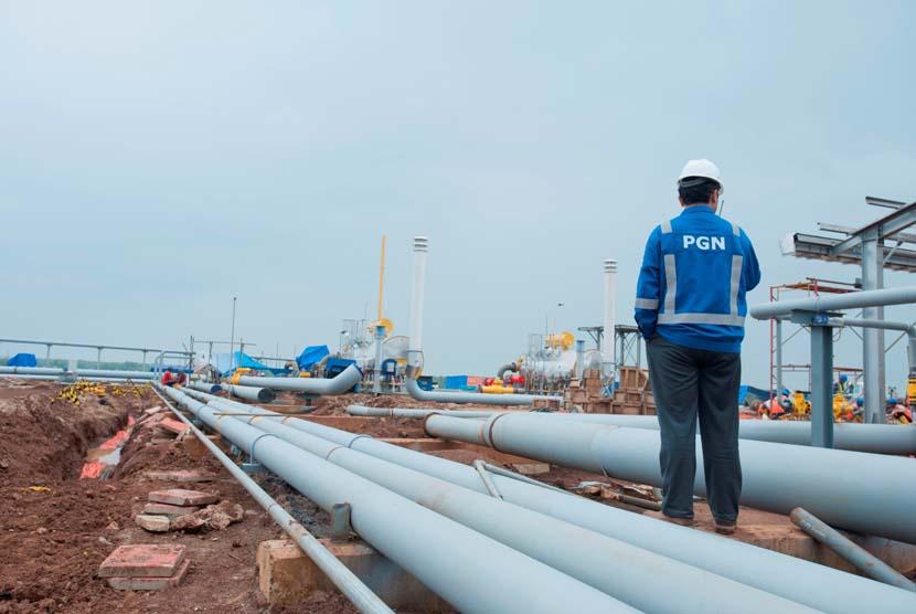 Pembangunan pipa gas bumi PT Perusahaan Gas Negara (Persero) Tbk (PGN).   (foto : Dok. PGN)