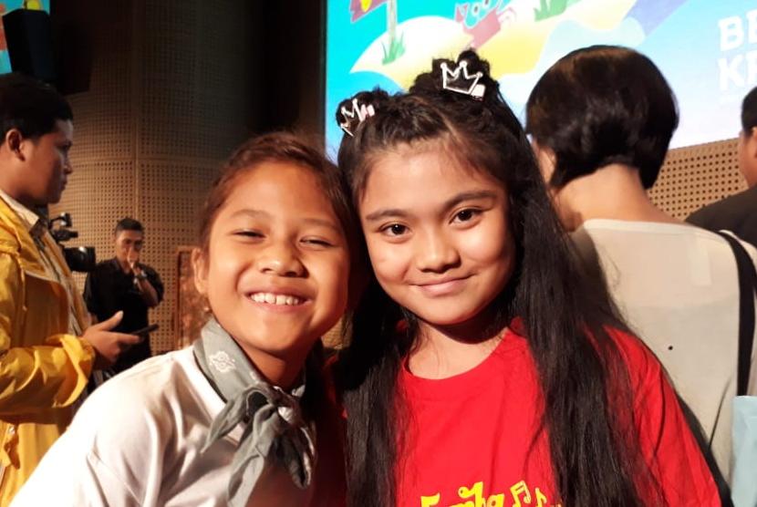 Pemeran cilik Maisha Kanna (11) dan Lil'li Latisha (12).