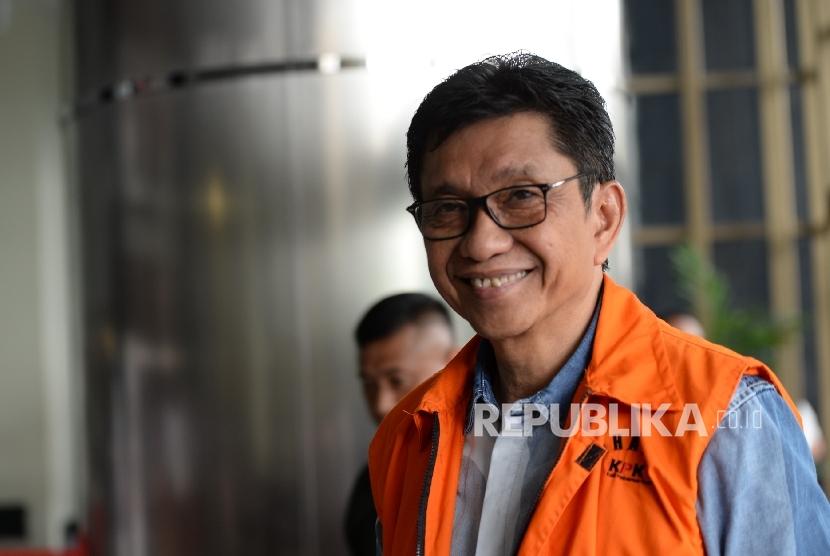 Wali Kota Batu Jawa Timur nonaktif Eddy Rumpoko.