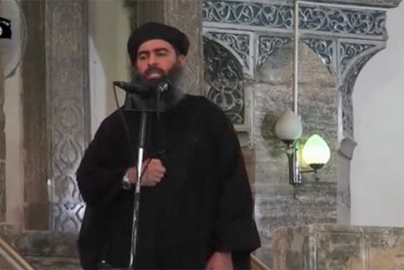 Pemimpin ISIS  Abu Bakr al-Baghdadi.