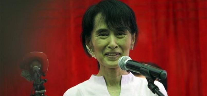 Pemimpin perjuangan demokrasi di Myanmar, Aung San Suu Kyi.