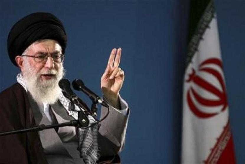Pemimpin Tertinggi Republik Islam Iran, Ayatollah Ali Khamenei.