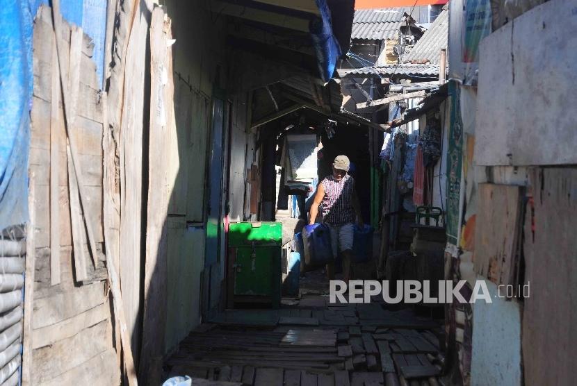 Pemukiman kumuh di Jakarta Utara