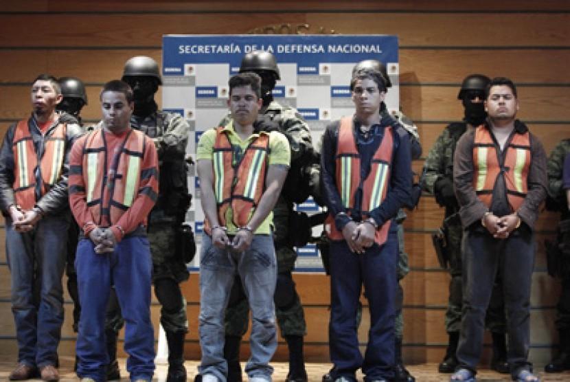 Penahanan anggota kartel narkoba di Meksiko  (ilustrasi)