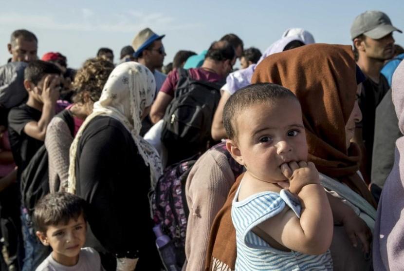Pencari suaka asal Suriah.