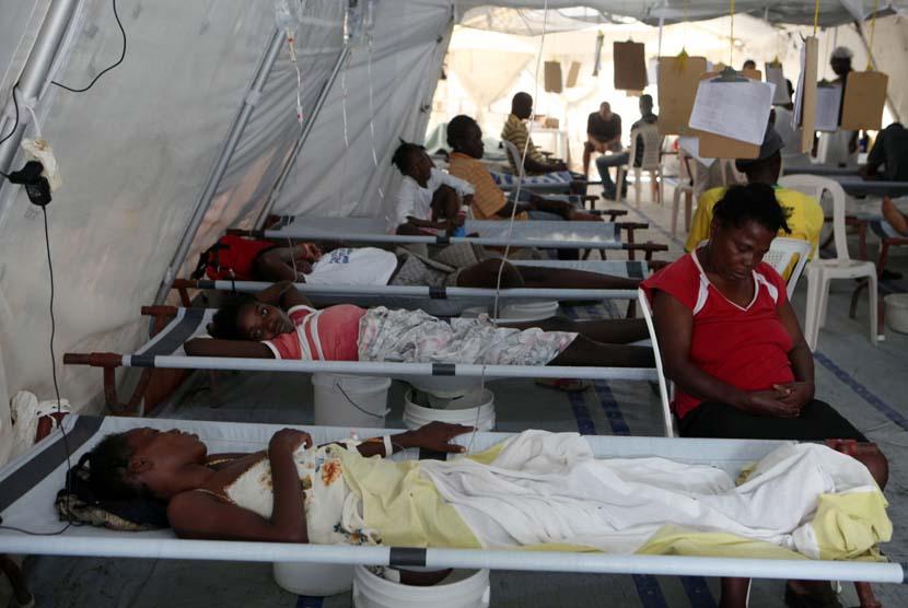 Penderita penyakit kolera (ilustrasi)