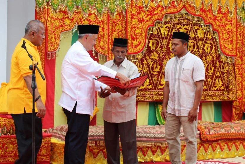 Artha Graha Peduli Bantu Pendirian Masjid di Pidie Jaya