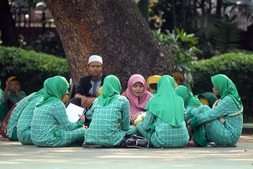 Pengajian anak yang dibina oleh Masjid Agung Sunda Kelapa (MASK). (Ilustrasi)