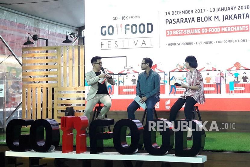 Pengenalan GO-FOOD FESTIVAL yang diadakan di Mal Pasaraya Blok M sejak 19 Desember 2017 hingga 19 Januari 2017, Selasa (9/1).