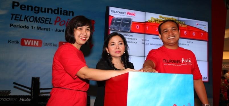 Pengundian Telkomselpoin di Jakarta, Ahad (24/7)