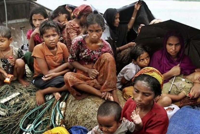 Pengungsi Muslim Rohingnya.