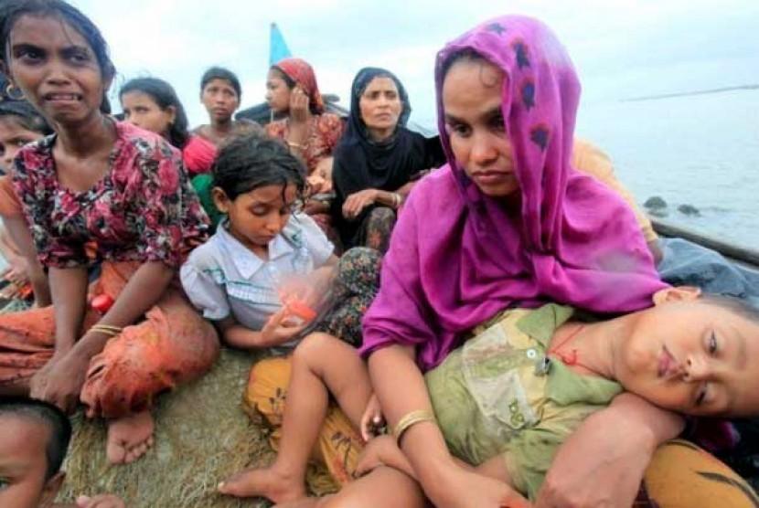 Pengungsi Muslim Rohingya.