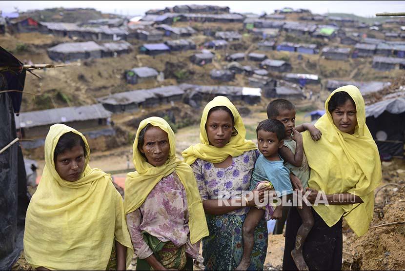 Pengungsi Rohingya di kamp pengungsi Rohingya di Ukhiya