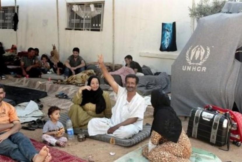Pengungsi Suriah di Yordania. Negara tetangga Suriah itu kini menjadi penampung lebih dari 14 ribu pengungsi.