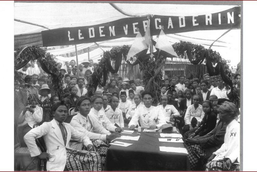 Pengurus Sarekat Islam cabang Kaliwungu, Kendal, Jawa Tengah, tahun 1921