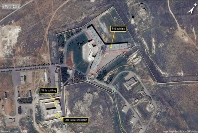 Penjara Saydnaya di Suriah.
