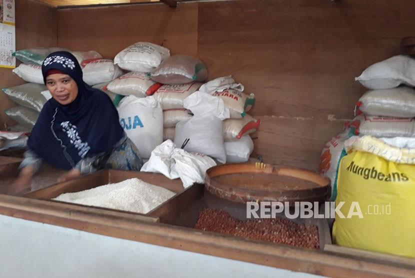 Penjual beras, ilustrasi