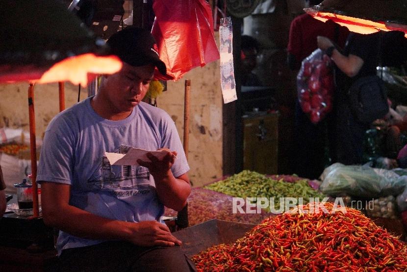 Penjual cabai rawit merah (ilustrasi)