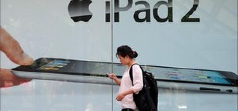Penjualan iPad 2 dimulai di Cina bulan lalu.