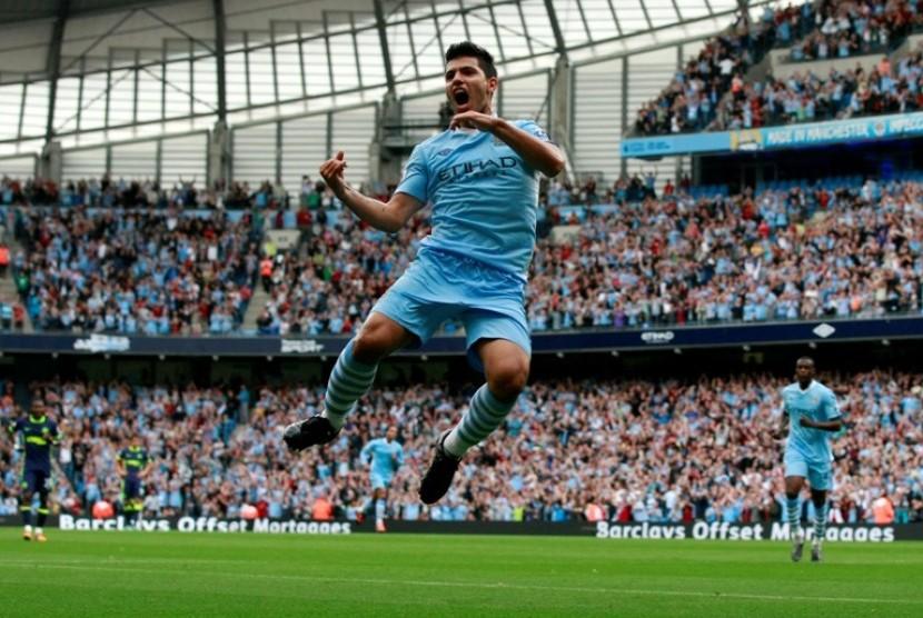 Penyerang Manchester City Sergio Aguero