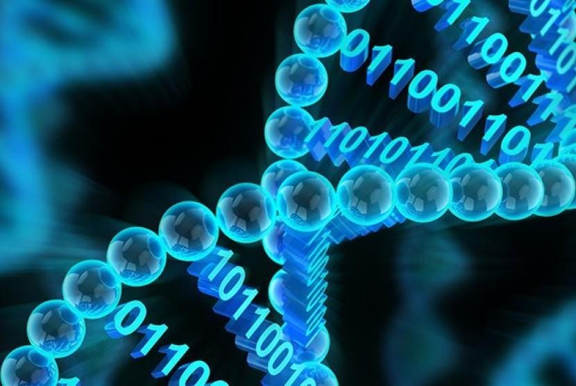 Penyimpanan data menggunakan DNA.