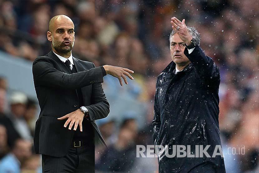 Pep Guardiola dan Mourinho