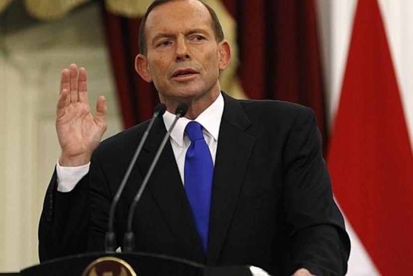 Perdana Menteri Australia, Tony Abbott.