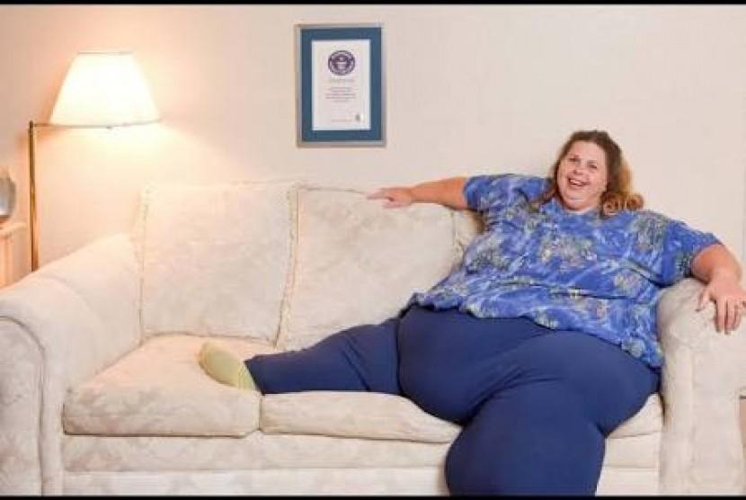 Perempuan gemuk. Ilustrasi