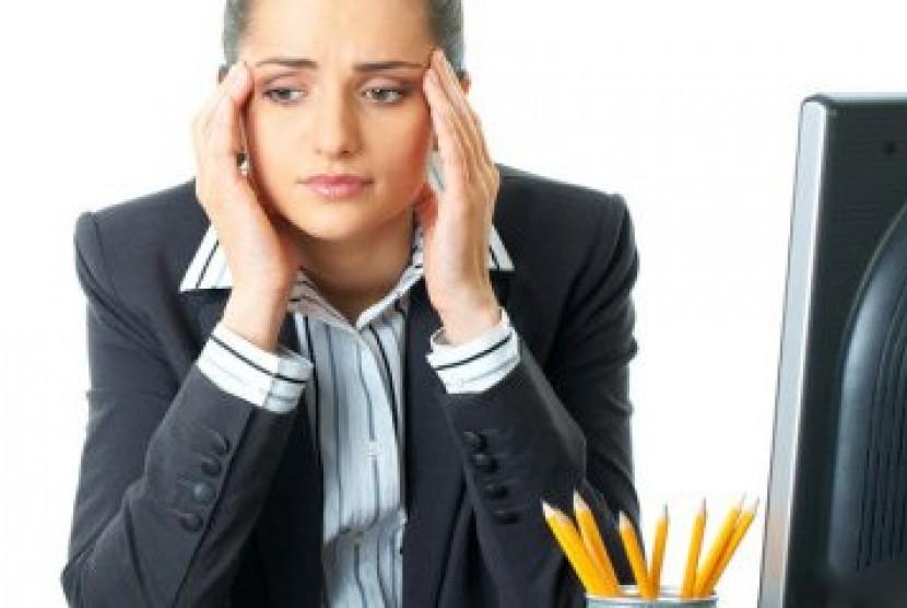Perempuan stres karena pekerjaan/ilustrasi