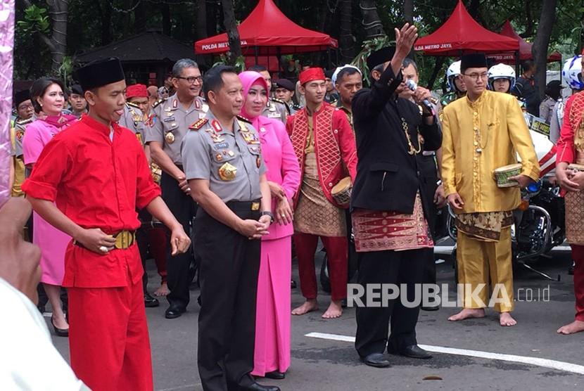 Peresmian Gedung Promoter Polda Metro Jaya, Jumat (19/1) dihadiri oleh Kapolri Jenderal Tito Karnavian, dan seluruh jajaran kepolisian wilayah hukum Polda Metro Jaya.