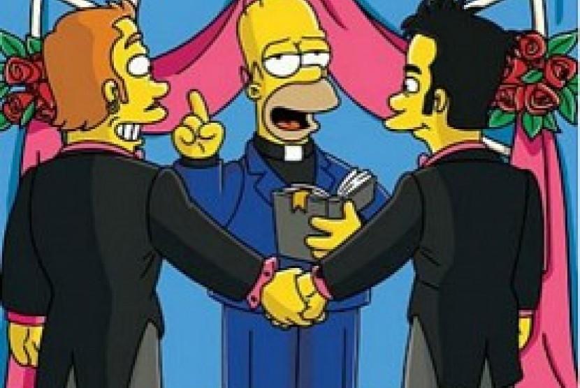 pernikahan gay (ilustrasi)