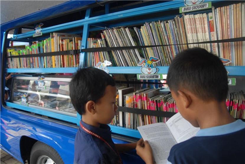 Perpustakaan keliling (ilustrasi)
