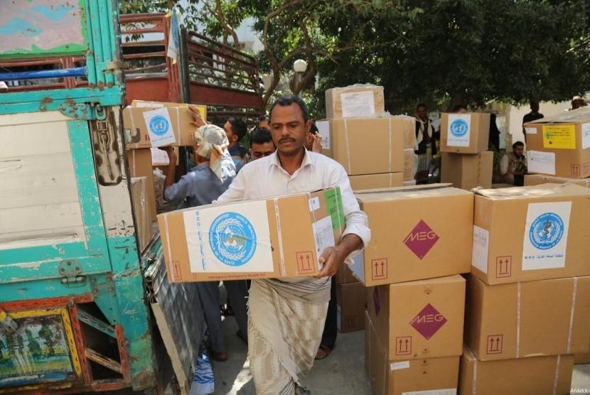 persediaan makanan di Yaman. Ilustrasi