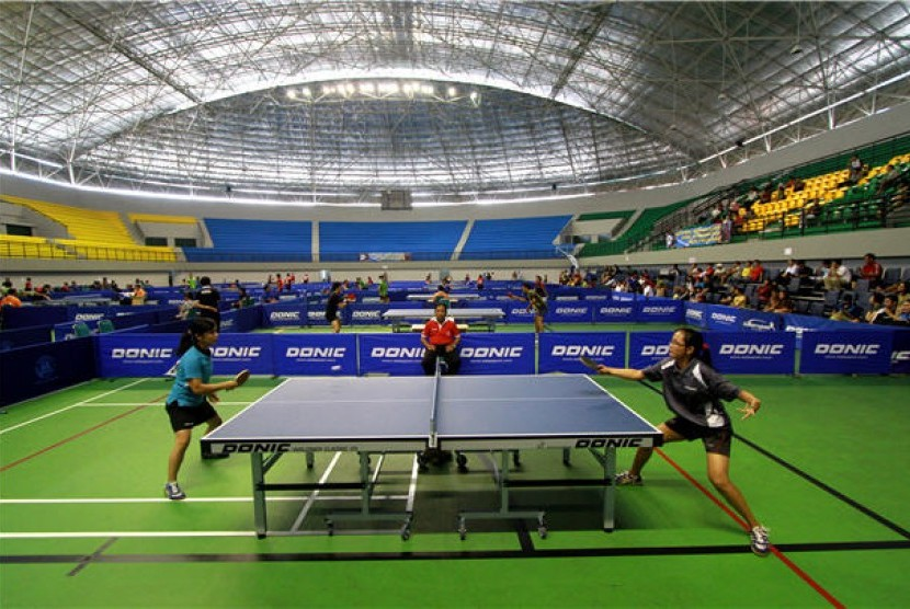 Pertandingan tenis meja (ilustrasi)