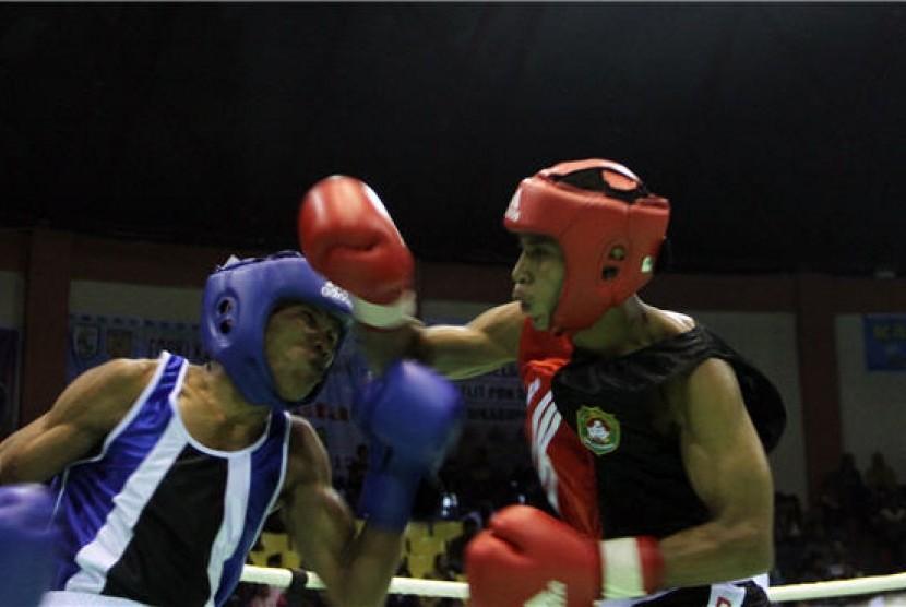 Pertarungan tinju (ilustrasi)