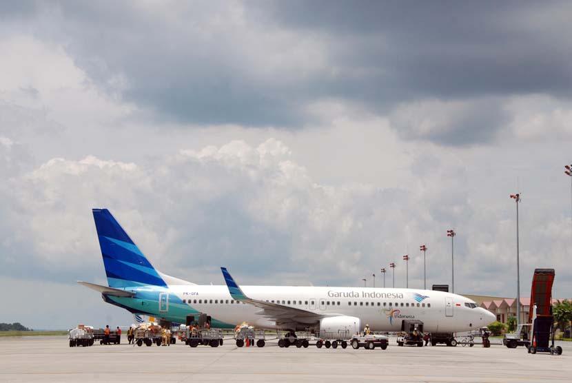 Pesawat Garuda (ilustrasi).