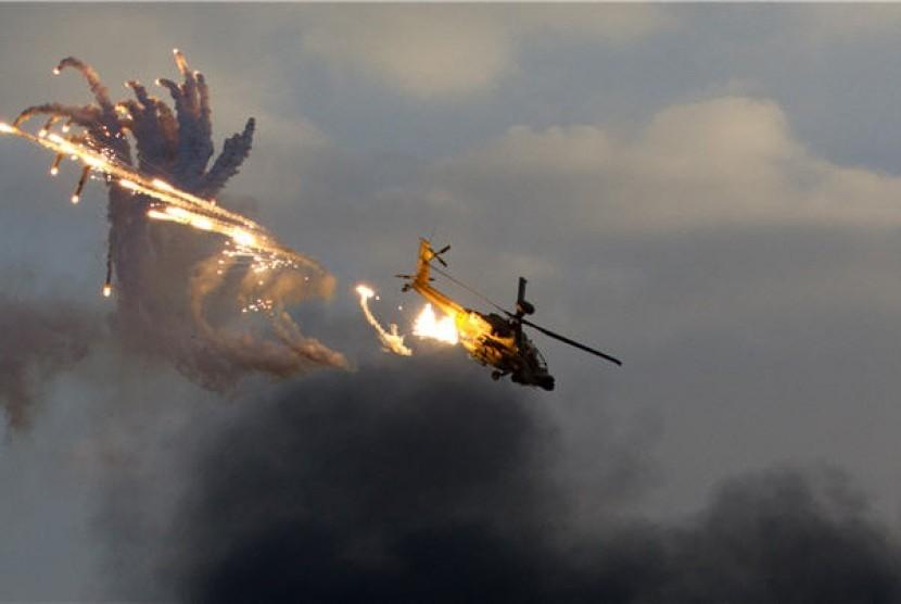 Pesawat helikopter jatuh (ilustrasi)