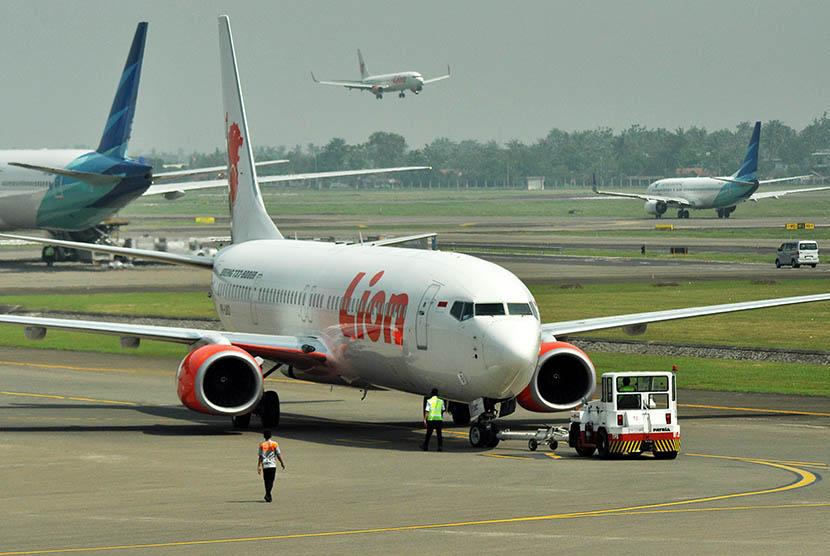 Pesawat maskapai Lion Air.