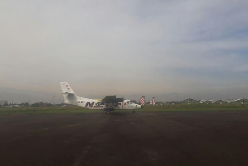 Pesawat N219 berhasil terbang perdana, Rabu (16/8).
